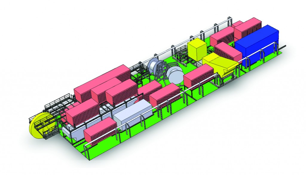 3D rendered AutoCAD image of Phase II of CARSP on the vessel Citadel